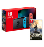 Consola Nintendo Switch 2019 Neon Bateria Extendida + Legend Of Zelda Breath Of The Wild