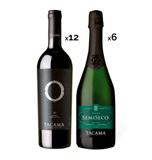 Pack Tacama – 12 Vinos O Malbec + 6 Espumosos Semiseco