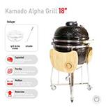 Parrilla Kamado Negro 18 Pulgadas – Alpha Grill