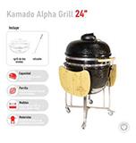 Parrilla Kamado Negro 24 Pulgadas – Alpha Grill